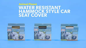 animal planet water resistant hammock style car seat cover grey chewy com