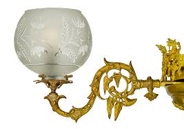 pair of antique chandeliers victorian neo rococo 4 arm gas lighting ant 834 for