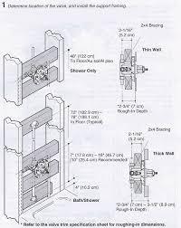 installing a k 304 kohler rite temp bath shower valve terry shower valve installation best design ideas