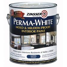 Zinsser 1 gal. Perma-White Mold and Mildew-Proof Satin Interior ...
