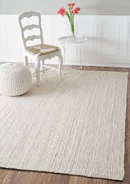 ivory jute rugs with chair and ottoman for home decoration ideas