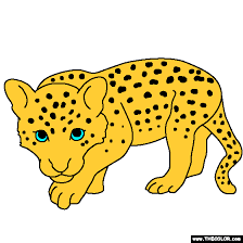 Baby Leopard Coloring Page Home Stuff Baby Leopard Baby