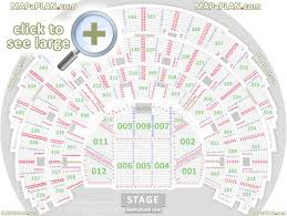Bridgestone Arena Detailed Seating Chart Detailed Seat Numbers Chart With Rows And Blocks Layout