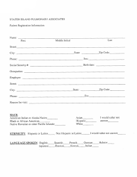 medical patient registration form new patient registration form staten island pulmonary associates
