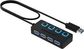 Sabrent 4-Port USB 3.0 Hub with Individual LED ... - Amazon.com