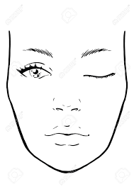 Blank Face Charts To Print Face Chart Makeup Artist Blank Template Vector Illustration