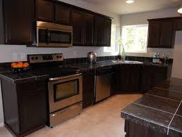 black kitchen cabinets with black granite countertops