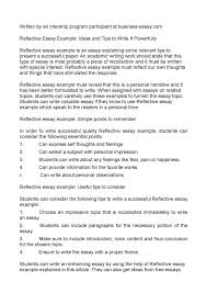 Personal Reflective Essays Examples National Personal Reflective Essay Examples Higher English