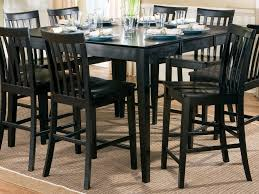 Image Stools Contemporary Style Dining Room Decorblack Finish Bar Height Kitchen Tableeasy Assembly Dinette Setmission Style Back Crafted Chairs8 Pieces Solid Detainee063com Bar Height Table And Chairs Contemporary Style Dining Room Decor