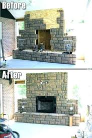 faux stone fireplace panels the