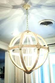 crystal orb chandelier