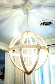 crystal orb chandelier distressed white wooden chan wood farmhouse crystal orb plans