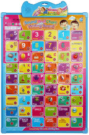 Abc 123 Learning Interactive Voice Assisted Wall Chart With Writing Board