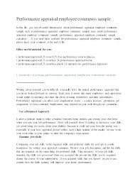 Examples Of Performance Review Job Ce Review Template 8 Sample Employee Feedback Forms