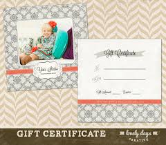 printable photography gift certificate template photography gift certificate template 8