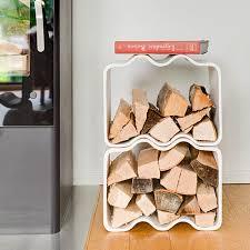 Modern Concrete Fireplace Wood Log Holder