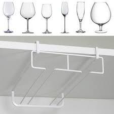 white metal fresh bar champagne wine glass holder rack storage cabinet hanging