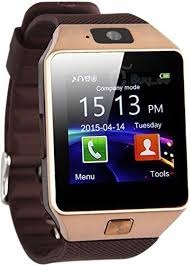 888 DZ09 Brown Facebook and WhatsApp Multilanguage Android/IOS with activity trackers fitness band Smartwatch (Brown Strap Regular)