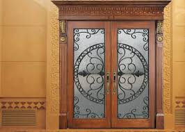 glass wrought iron entry doors and glass agon filled 22 64 inch size durable