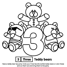 Small Picture Number 3 Coloring Page Sesame Street Coloring Pages