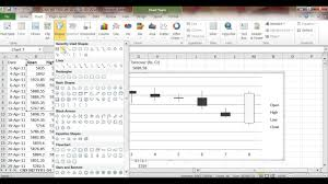 How To Draw Candlestick Chart In Excel How To Draw Candlestick Chart On Excel
