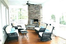 back porch fireplace deck ideas full size of screened in with outdoor stone