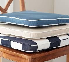 pb classic sunbrella dining chair cushion pottery barn regarding cushions for chairs prepare 18