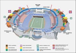 Gillette Stadium Seating Chart Gillette Stadium Parking Lot Map Maps Resume Designs