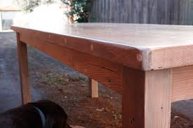 table recycled materials. This Table Is 100% Built Out Of Recycled Materials. Old Oregon Beams And Post Were Used. Pieces Merbu Decking Used In Between The To Break Up Materials