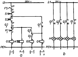 electrical installation basic vocational knowledge 7 mounting circuit diagram of an automatic star delta contactor circuit indication
