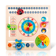 Multifunction 6 In 1 Hanging Early Educational Learning Kids Clock Date Weather Chart Wooden Calendar Toy Buy Wooden Calendar Toy Calendar Toy Clock