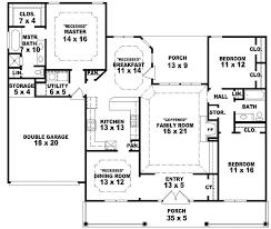 single story farmhouse floor plans