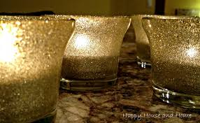 Diy Candle Holders Happy House And Home Diy Glitter Candle Holders