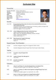 Resume Cv Example Pdf Cv Format Sample Pdf Curriculum Vitae Resume