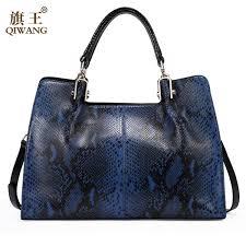 <b>Qiwang</b> 100% Genuine <b>Leather</b> Women Bag Plaid China <b>Brand</b> ...