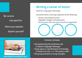 Suggestions For Writing A Letter Of Intent – Slp_Echo