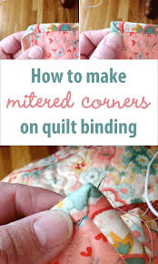 How To Make Mitered Corners On Quilt Binding How To Make A ... & How To Make Mitered Corners On Quilt Binding How To Make A Patchwork Quilt  By Hand Adamdwight.com