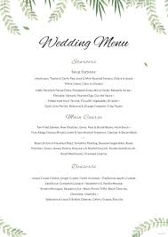 pages menu template 14 simple wedding menu designs templates psd ai word