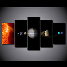 HD Printed <b>5 Piece</b> Canvas <b>Art</b> Solar System Space <b>Fantasy</b> Planet ...
