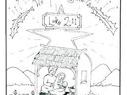 Free Printable Nativity Coloring Pages Kyudojoinfo