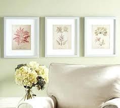 white framed wall art set