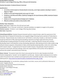 Research Assistant Job Description Resume 5 Research Assistant Resume Templates Free Download
