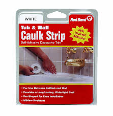 Amazon.com: Red Devil 0151 Wide White Tub & Wall Caulk Strip 1-5/8 ...