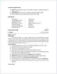 Qa Sample Resume Custom Software Qa Resume Bino48terrainsco