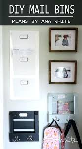 wooden wall mail organizer wall mail sorter your turn wood wall mounted mail organizer key rack