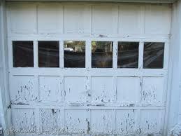 paint garage doorChippy Garage door with Lead Paint  My Repurposed Life