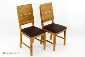 Esszimmerstühle Stühle 2er Massivholz Eiche Geölt Leo