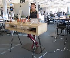 office desk standing.  Standing Wooden Standing Desk Ikea Intended Office P
