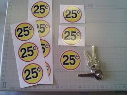 25 Cent Vending Machine Fascinating 48 CENT VENDING Machine Price Decals Stickers FOR INSIDE GLASS Qty 48