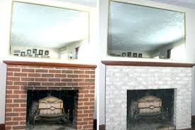 best paint for brick fireplace paint colors living room red brick fireplace makeover small town rambler best paint for brick fireplace